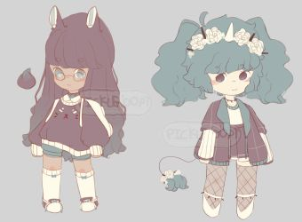 [Closed][Set Price $7] Casual Goth Girl Adopts by PickleAdopts