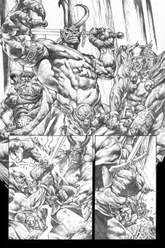 Rage Of Thor page 1 grayscale by MicoSuayan