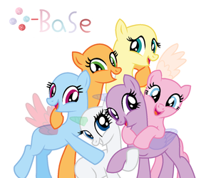 MLP Base 23 Mane Six, We are best friends by fantasia-bases
