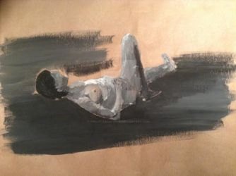 Life Drawing Acrylic Paint by Thelittlecoconut