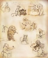 Redwall sketchdump by Sharsarannon