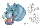 Cricket's Hippo Logo by A-Fistful-Of-Kittens
