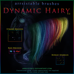 v.3 Dynamic Hairy Brushes by arrsistable