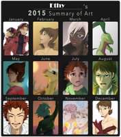 2015 Summary of Art by Aetherya