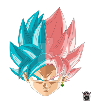 Super Saiyan Blue And Rose by hollowkingking