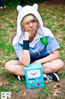 Adventure Time: Finn and Beemo by Sapharia
