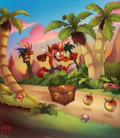 Crash Bandicoot by BelToons