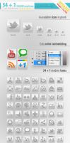 55 Social Media Icons UPDATED by survivorcz