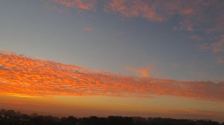 Red Sky at Morning.. North Devon by GeaAusten