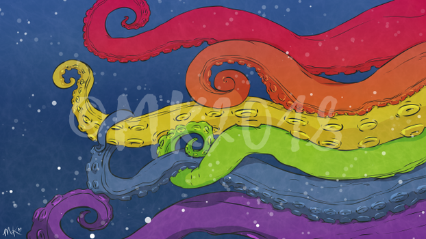Sea Monster Pride by franticprofessional
