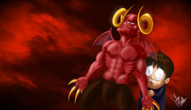 Leo and Satan by OneyNG
