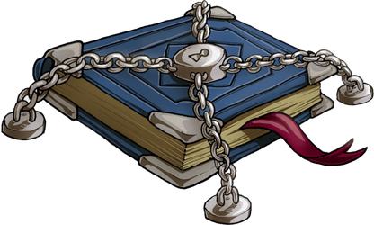 Chained Book by squanpie