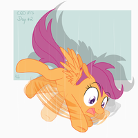 EQD ATG Day 2: Scootaloo by Akashasi
