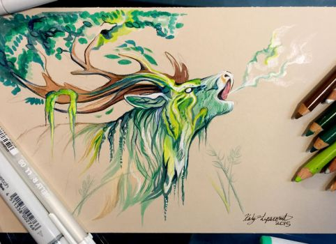 259- Stag Forest Spirit by Lucky978