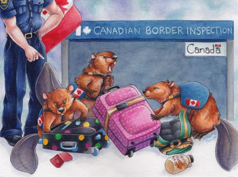 Canadian Drug-Sniffing Beavers by SilentRavyn