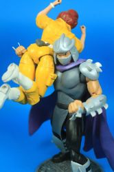 TMNT Classic April and Shredder Figures by hugohugo