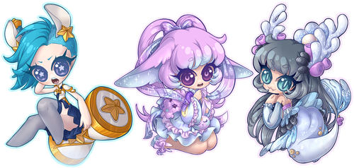 Chibi Commission Batch 138 - 140 by Lady-Bullfinch