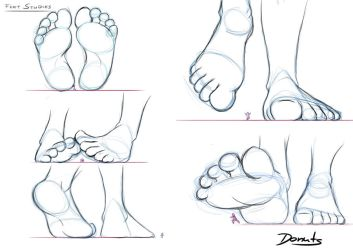 Feet Study Lesson 1 by made-in-donuts