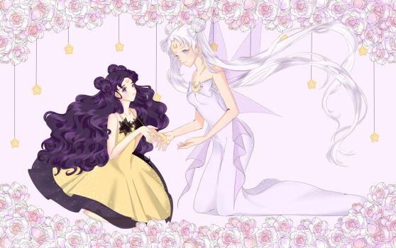 Sailor Moon: Luna and Queen Selene by Iori-dono