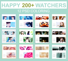 PACK SHARE - HAPPY 200+ WATCHERS by xx3hanhan