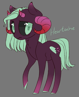 Demon Pony  Adopt Auction [CLOSED] Heartache by JellyBeanBullet