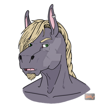 Horse Bust (FA Commission) by Dwight-Dman