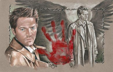 Castiel 'The Hand Of God' by scotty309
