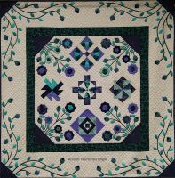 Flowering Applique Quilt by suedollinQuilts