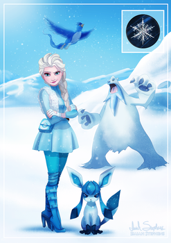 Gym Leader Elsa by IsaiahStephens