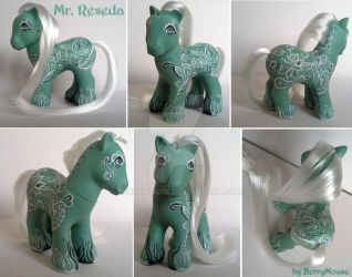My little Pony Custom G1 Mr. Reseda by BerryMouse