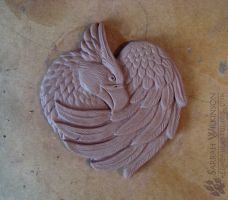 Griffon Wall Plaque Sculpt - WIP by Nightlyre