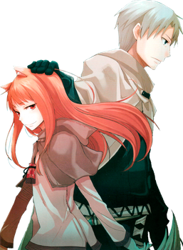 [Render] Holo and Lawrence - Spice and Wolf by Gintoki62