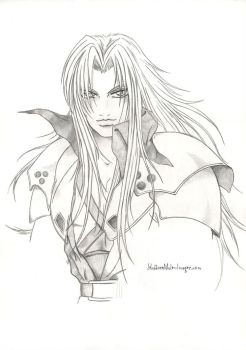 Sephiroth - unfinished sketch by ClimaxTogether