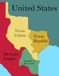 Texas and Rio grande republics by Blond-Jose