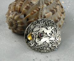 Sterling silver Squirrel necklace. Wild Life. by nataliakhon