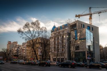 Bucharest my hometown - golden hours on the boulev by Rikitza