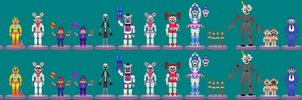 All Funtime Animatronics by Thunderstudent