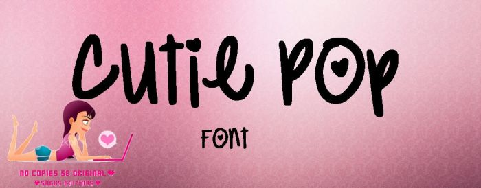 Cutie Pop Font by SugusEditions