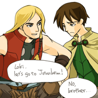 Thor and Loki by marzo20