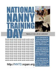 National Nanny Training Day Flyer w/ Tear-Off Tabs by theinfamousj