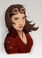 steampunk girl by inmaxpictures