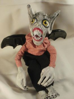 Bat Boy Art Doll Sculpture by oddollsdotnet