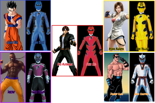 GekiRanger Portrayed by Any Characters by Tabacookie