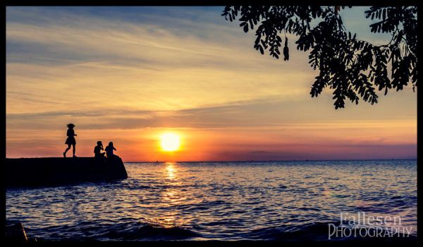 Kids at Sunset by FallesenPhotography