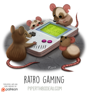 Daily Paint 1634. Ratro Gaming by Cryptid-Creations