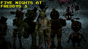 Five Nights at Freddy's 3 Poster by RandomAcount4