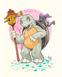 Lune and The Tortoise by pandapaco