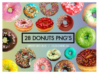 28 Donuts PNG'S by amortentia15
