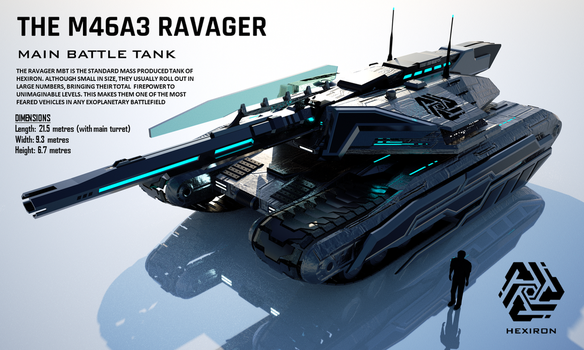 M46A3 Ravager Main Battle Tank (FULL HD) by Duskie-06