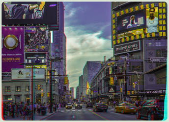 Yonge-Dundas Square 3-D :: HDR/Raw Anaglyph Stereo by zour